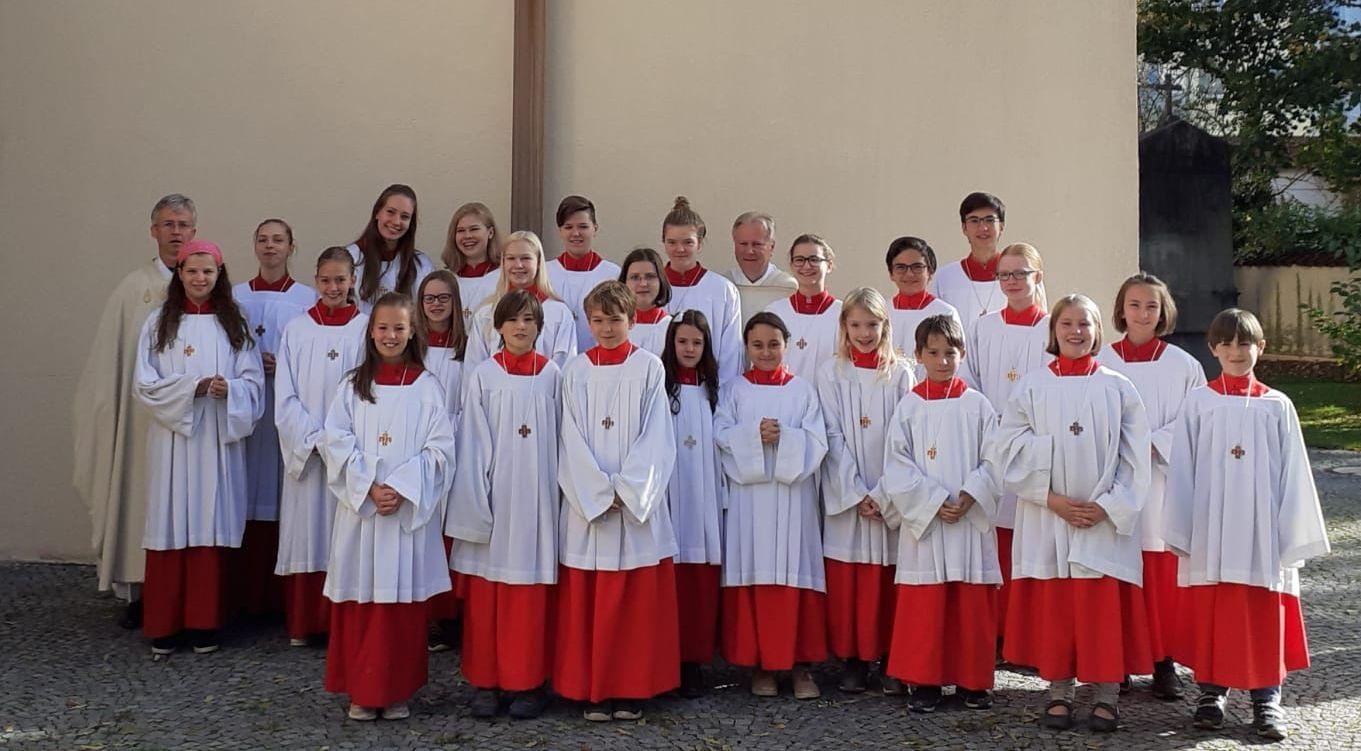 Die neuen Ministranten von St. Ulrich (2019)