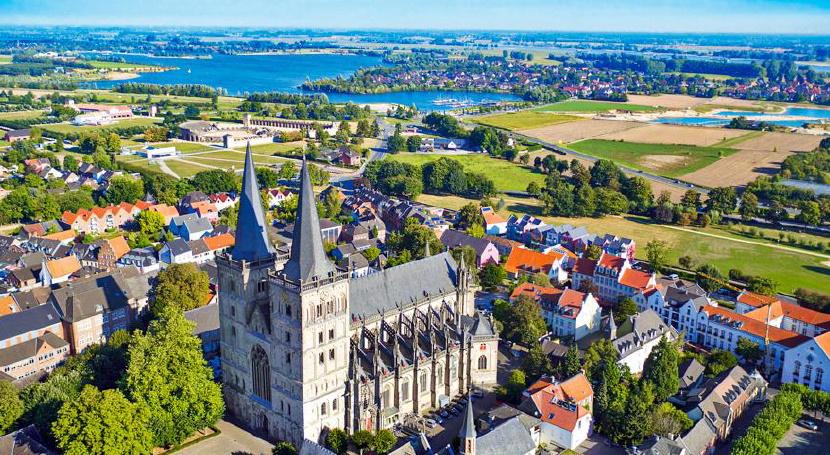 Luftbild Xanten (© TIX Copy Tourismus)