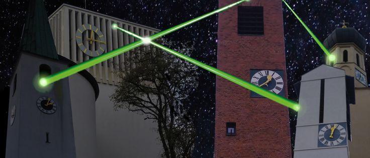 Laser-Lichtkunstinstallation in Laim 2019 (Bild: A.Juergens)