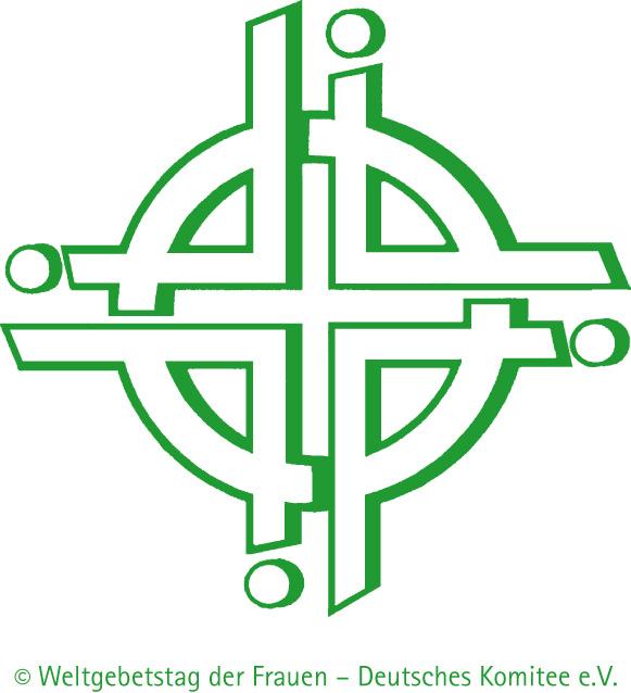 Logo des Weltgebetstags in Kreuzform