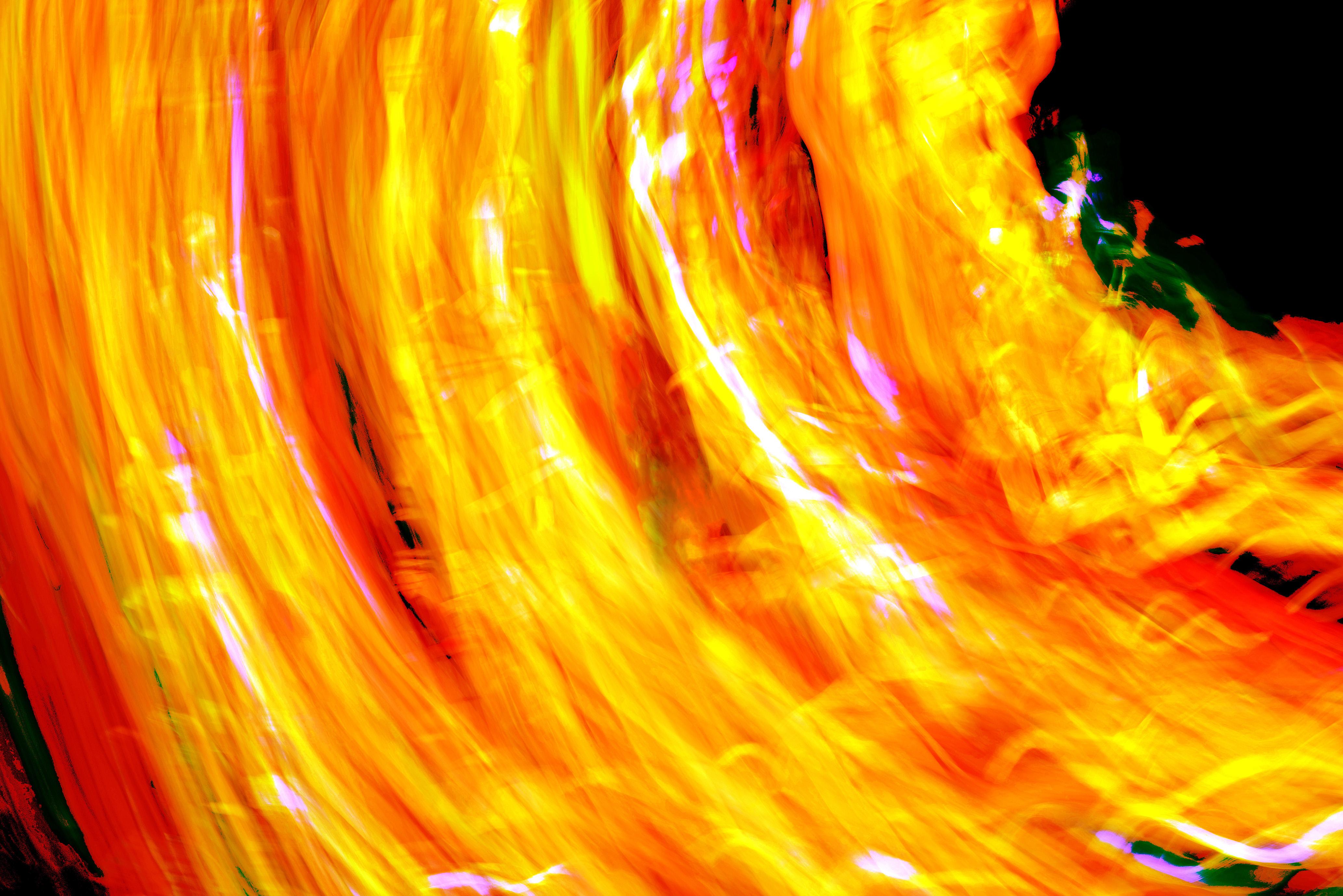 Flammen in der Nacht
